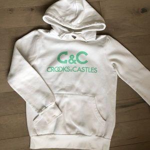 Crooks & castles hoodie in white